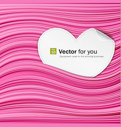 white paper hearts on pink abstract vector image