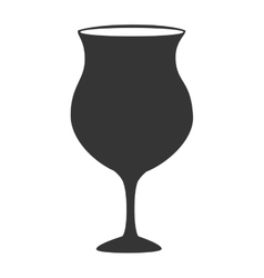 Wine glass cup icon vector image