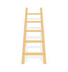 wooden ladder with shadow vector image