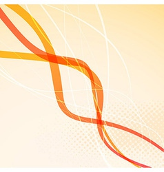 Abstract orange bright waves background vector image vector image