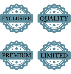 exclusive premium limited quality stamp vector image vector image