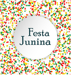 festa junina brasil festival pattern made of vector image vector image