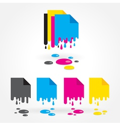 cmyk blank drops colored vector image vector image