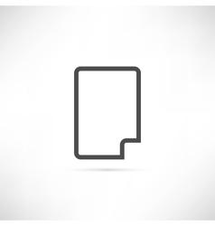 Corner Empty Sheet Icon vector image vector image