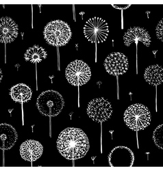 Dandelions seamless pattern for your design vector