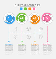 four options of infographic connection process vector image