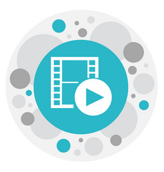 of movie symbol on recorded vector image vector image