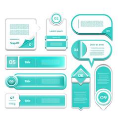 set of turquoise progress version step ic vector image