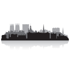 York city skyline silhouette vector image vector image
