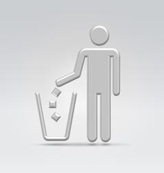 Person throws garbage vector image vector image