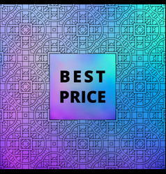 Vintage holographic sale banner tracery vector