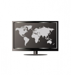 world TV vector image vector image