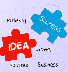 business plan and idea to success vector image