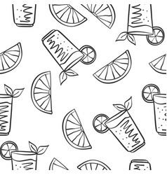 hand draw drink fresh doodles vector image vector image