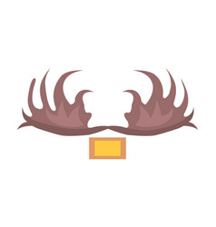 moose antlers isolated cartoon style vector image
