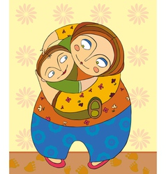 Mother Son vector image vector image