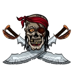Pirate Skull and crossed sables vector image
