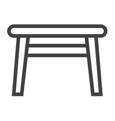 table line icon furniture and interior element vector image vector image