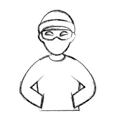 thief dangerous avatar character vector image