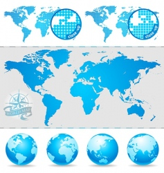 world maps and globe vector image