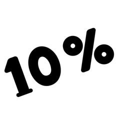 10 percents icon vector image