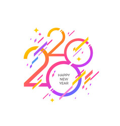 2020 new year logo vector