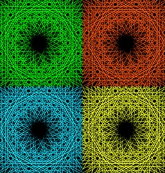 A set of four geometric patterns vector image