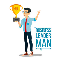 Attainment achievement concept businessman vector