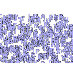 background or backdrop alphabets letters colorful vector image