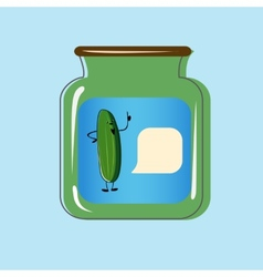 Bank with home canned pickles design vector image