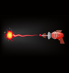 Blaster laser gan game shot ray and flash vector