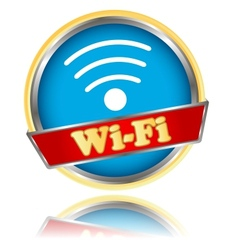 Blue wifi icon vector image