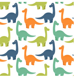 bright seamless pattern with dinosaurs vector image