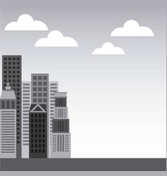 Buildings cityscape skyline icon vector