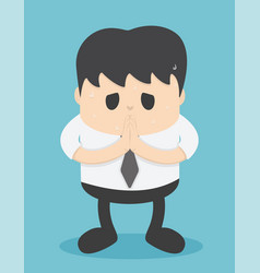 Business people who regret show hand gesture vector