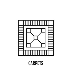 carpet flooring flat linear icon vector image
