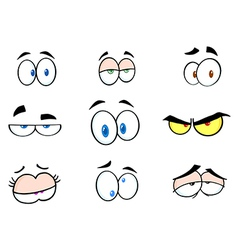 Cartoon Funny Eyes Collection vector
