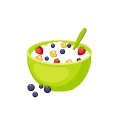 Cereals Breakfast Food Element Isolated Icon vector
