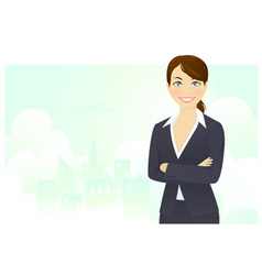 Cheerful businesswoman vector image