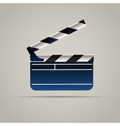 Cinema Film Clap Board Icon vector image