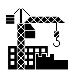 Construction buildings icon vector