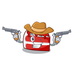 cowboy red velvet character cartoon vector image