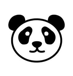 Cute Panda Face Logo vector
