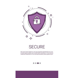 data protection privacy internet information vector image