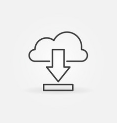 download from cloud concept icon in thin vector image