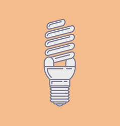 efficient energy saving fluorescent light vector image