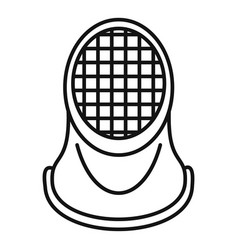 Fencing helmet icon outline style vector