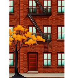 Fire escape of apartment building vector