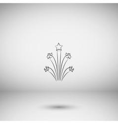 Flat firework icon vector image