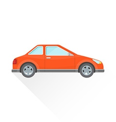Flat red coupe car body style icon vector